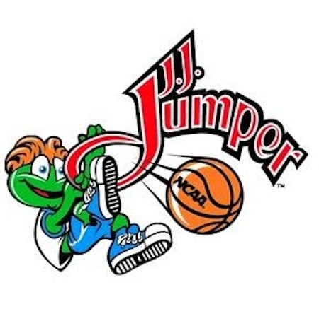 Official NCAA mascot J.J. Jumper is actually less efficient in his scoring than Trey Triples or Attila at the Rim.