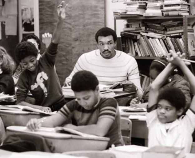 Former Creighton basketball player Kevin Ross at Chicago's Westside Preparatory School, 1982-83.