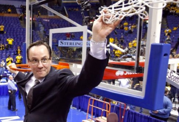 Gregg Marshall caught in a somber and reflective moment, possibly regretting the fact that he went for all those risky offensive boards.