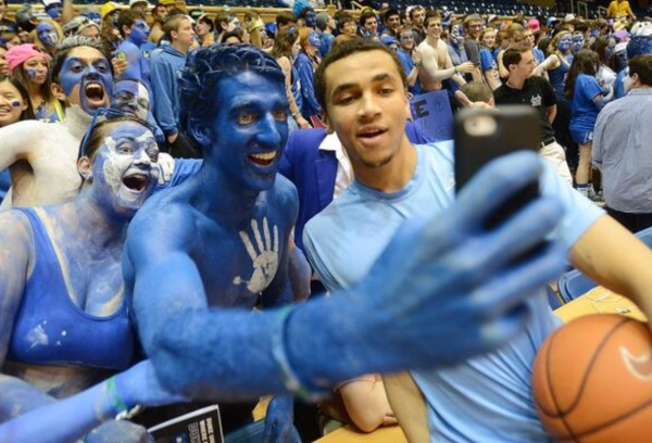 The Cameron Crazies magnanimously congratulate North Carolina's Marcus Paige on his team's upcoming No. 1 ranking.